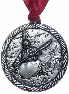 Yalding silver medal, k1 slalom division 3